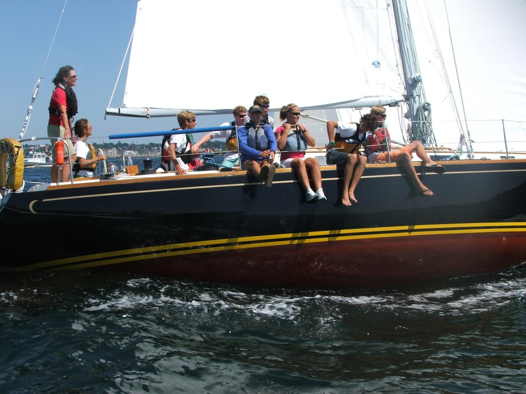 High school sailors put to sea aboard Selkie during the 2011 Jr. Safety at Sea seminar