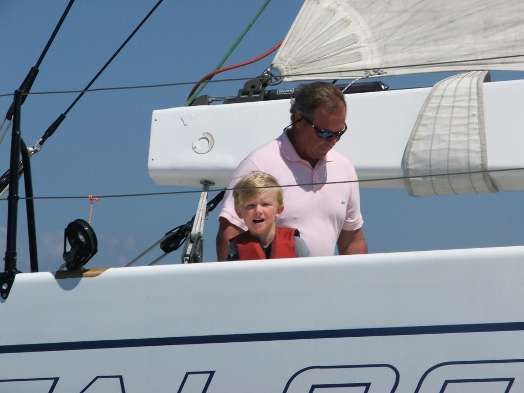 Junior Junior aboard Falcon 2000