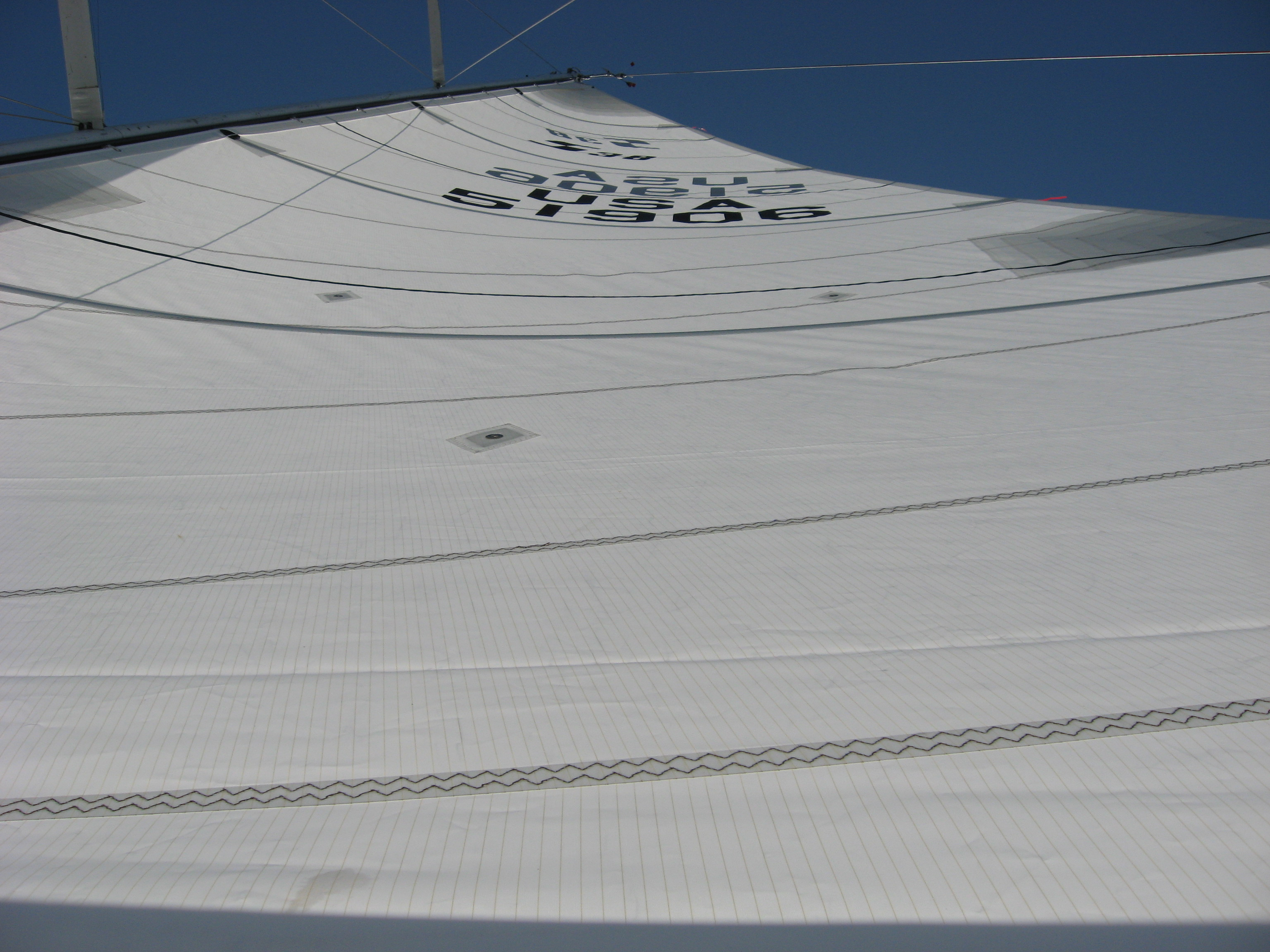 Most sail boats are constrained either by the backstay or a rating rule or often both