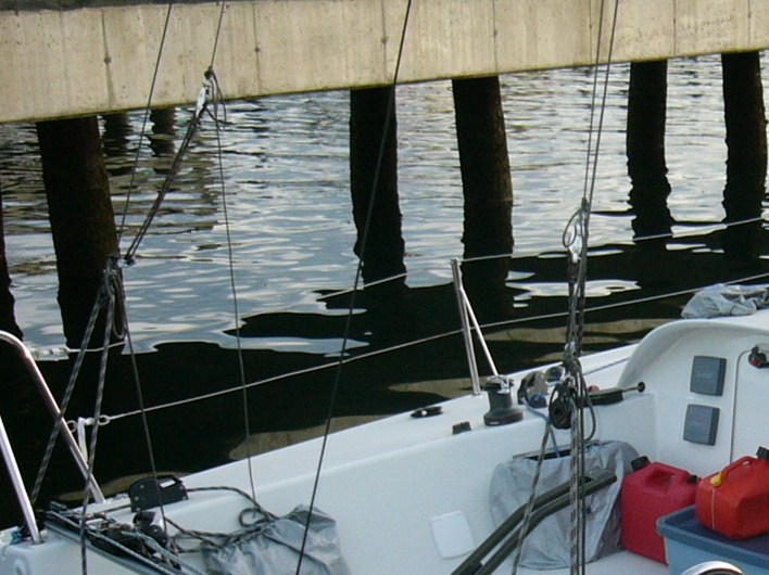 A closer look at the type of detail Chris is describing-Topmast runners AND lower or check stays attached to the topmast backstays
