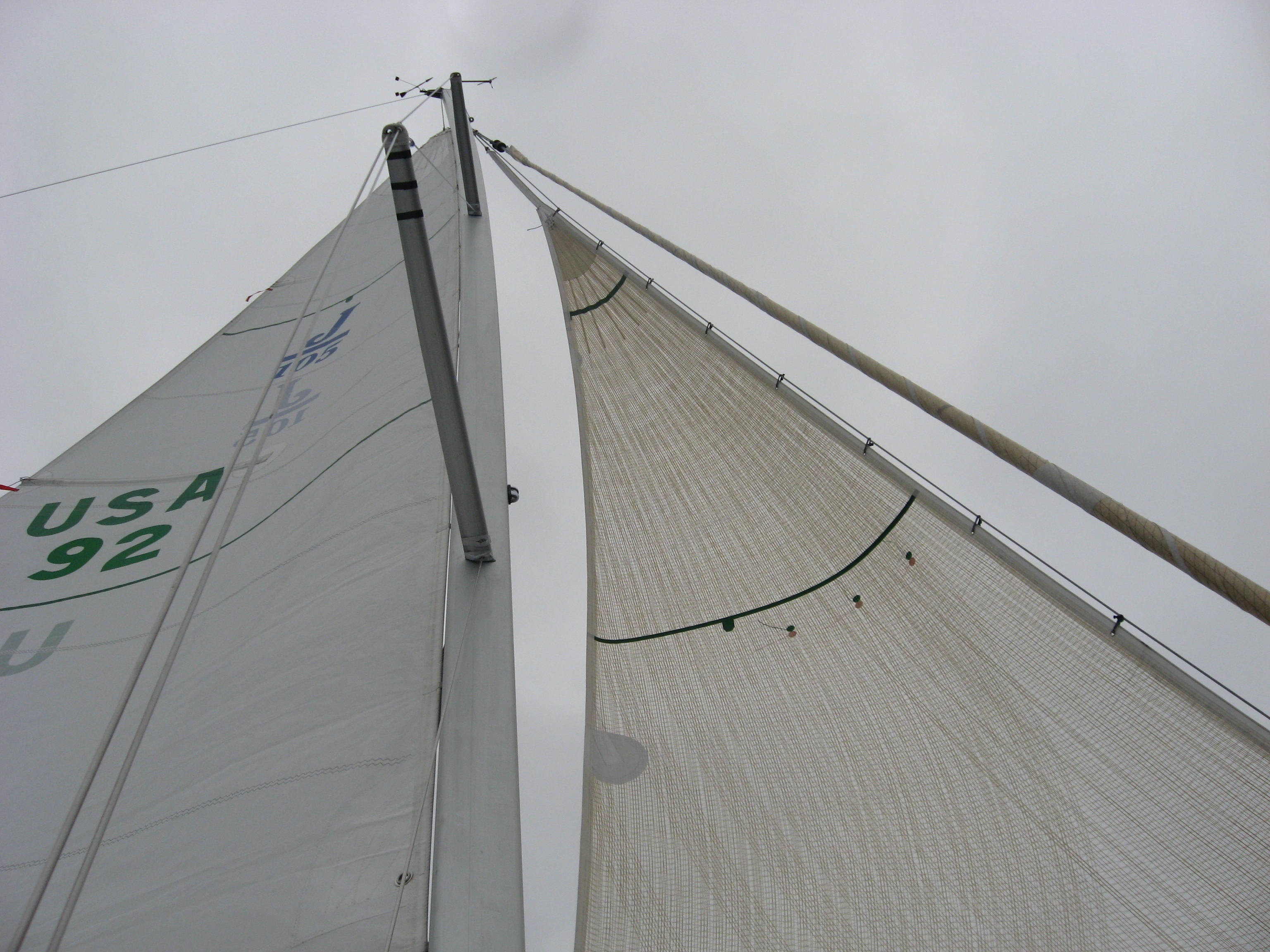 A Solent stay is a great way to get a smaller sail set when it is too windy for the Jib on the furler