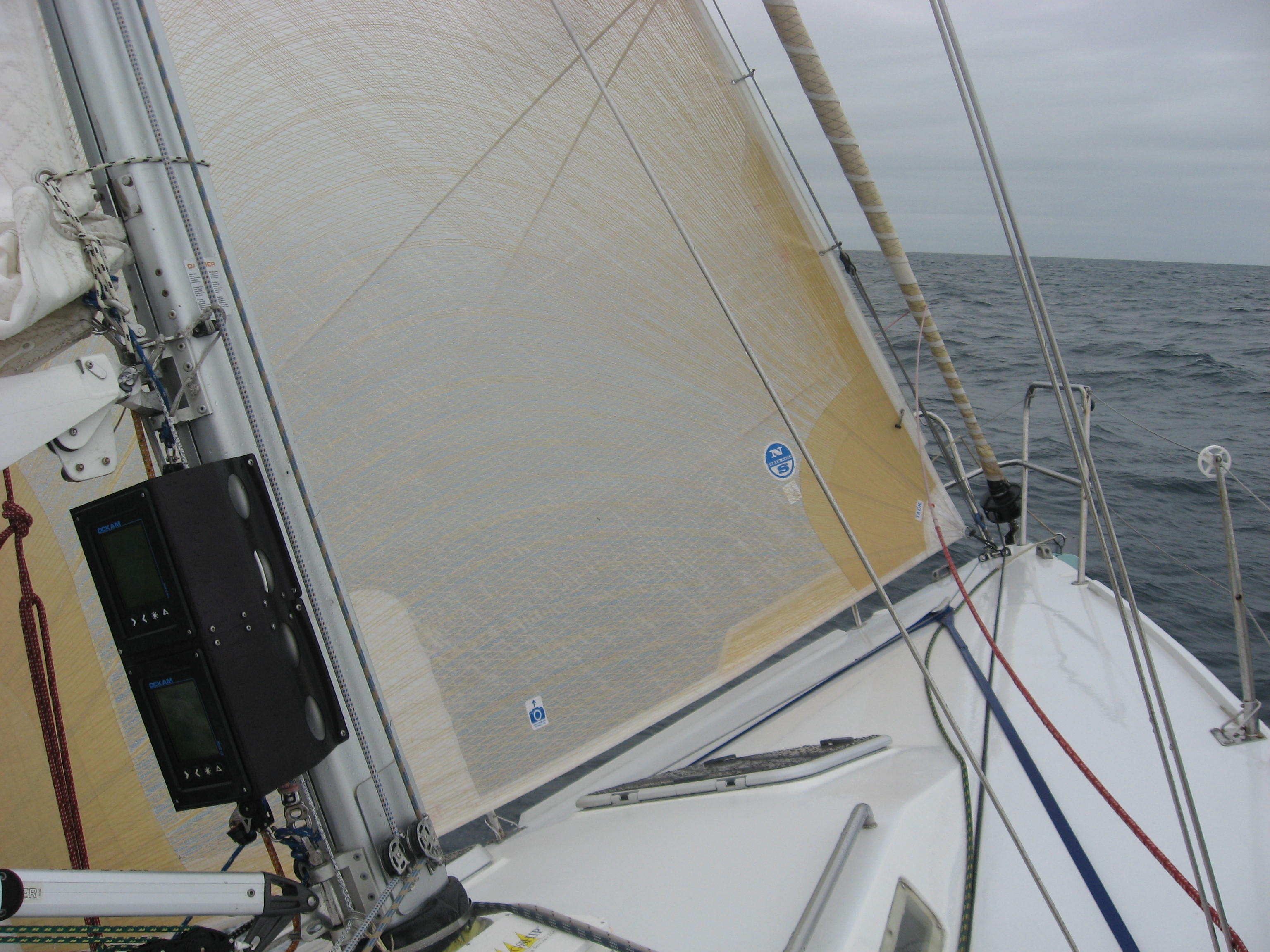 "A ""solent"" stay is a good way to have a small sail without having to ""change"" headsails."