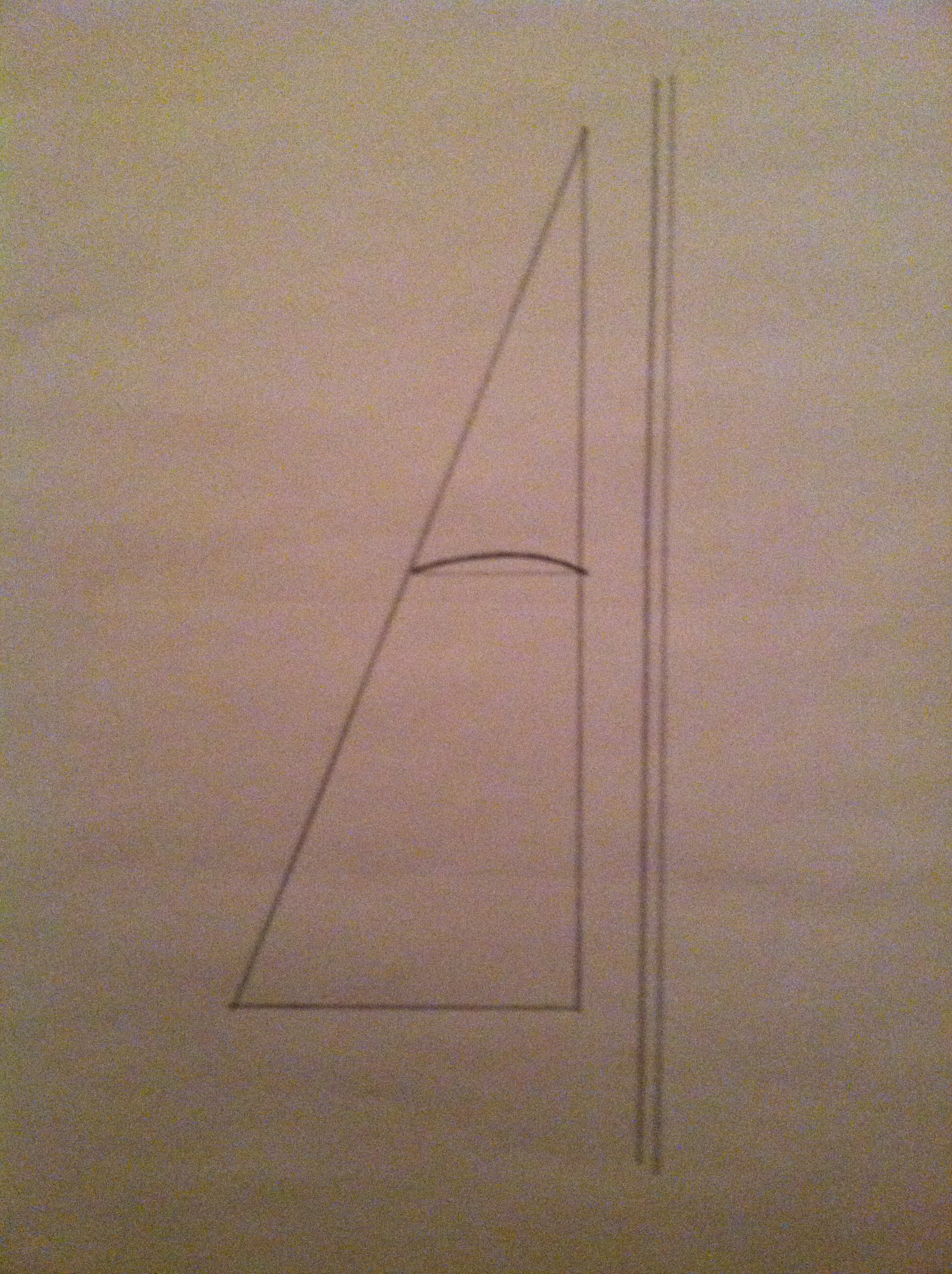 Sketch of a mainsail set on a straight mast
