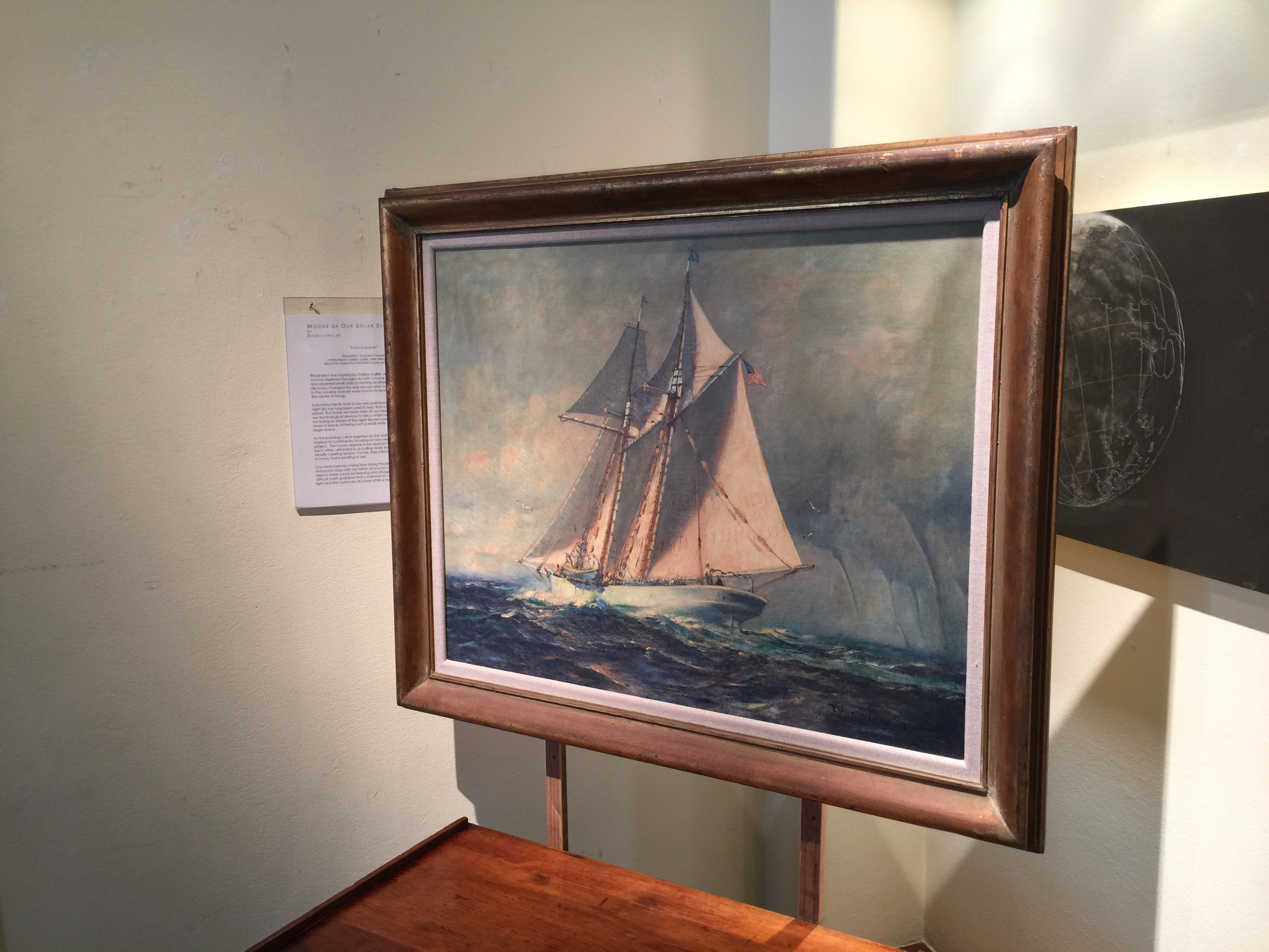 Painting of the Schooner Wander bird