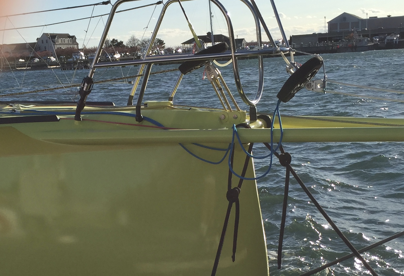 Stay tensioning system on IMOCA 60 No way out